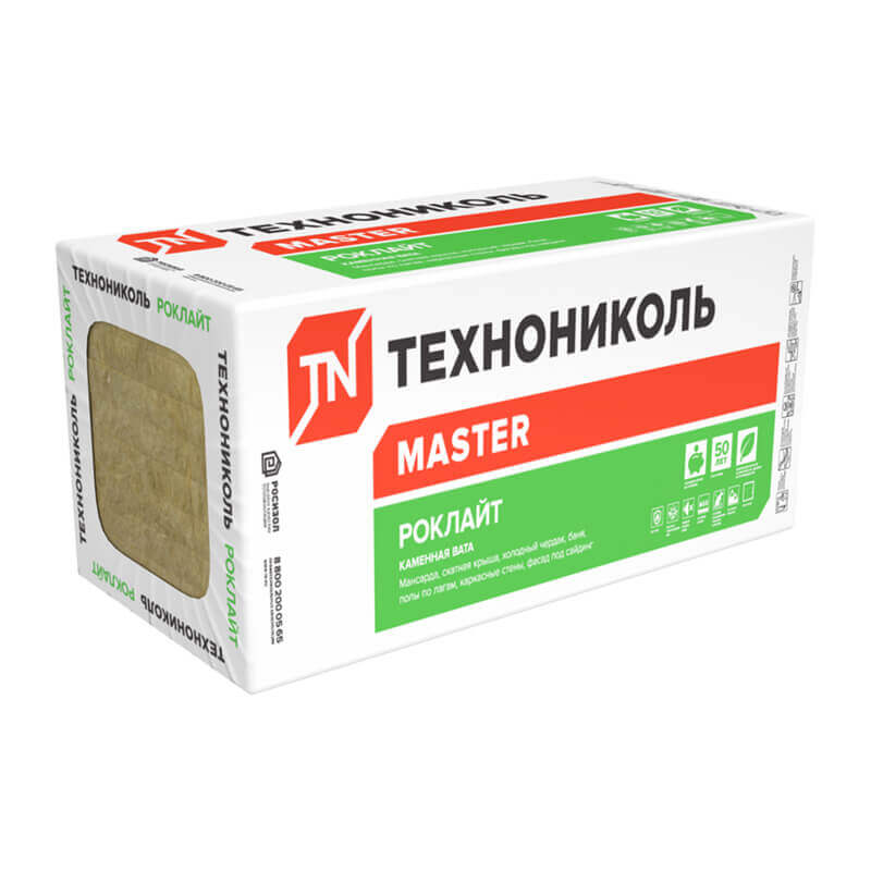Утеплитель Технониколь Роклайт 1200х600х50 мм, 6 шт